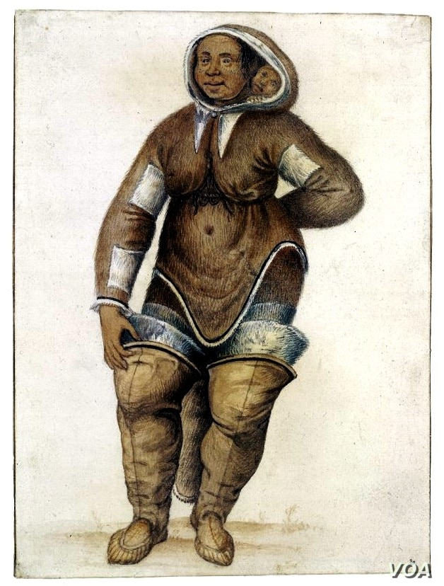 Arnaq and her daughter Nutaaq, Inuit from the region which is today Nunavut, were captured and taken to England in 1577