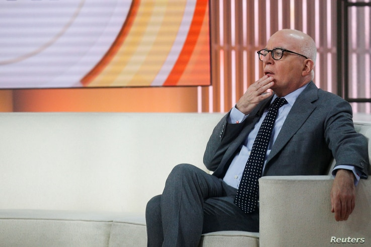 "Author Michael Wolff is seen on the set of NBC's ""Today"" show prior to an interview about his book ""Fire and Fury: Inside the Trump White House"" in New York City, Jan. 5, 2018."