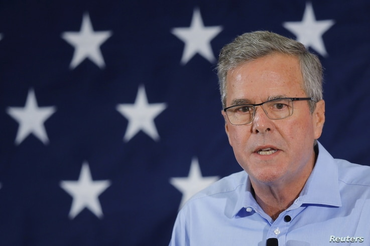 Former Florida Governor and probable 2016 Republican presidential candidate Jeb Bush speaks at the First in the Nation Republican Leadership Conference in Nashua, New Hampshire, April 17, 2015.