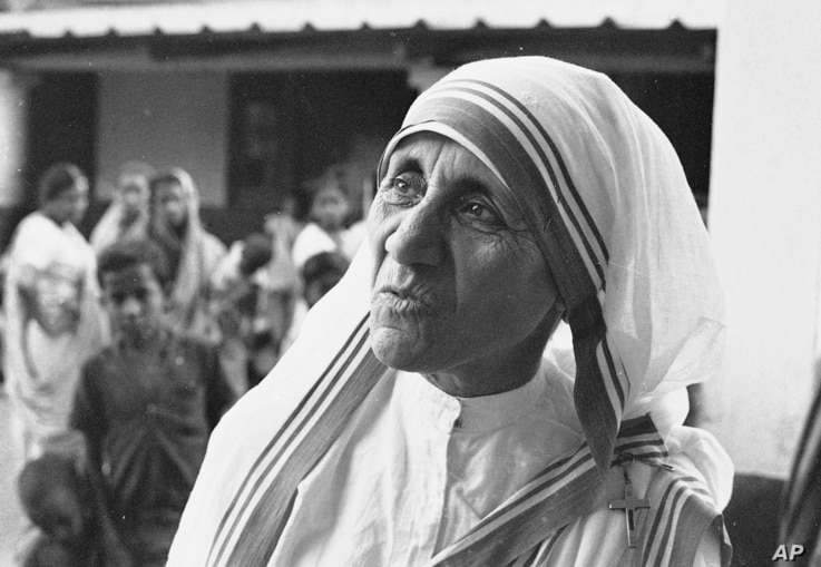 FILE - Mother Teresa, seen March 30, 1966, the superior-general of the Roman Catholic Missionaries of Charity, runs the Home for the Dying Destitutes in Calcutta, India.  Since the home opened in 1952, some 18,000 ill persons have entered, with 8,500...