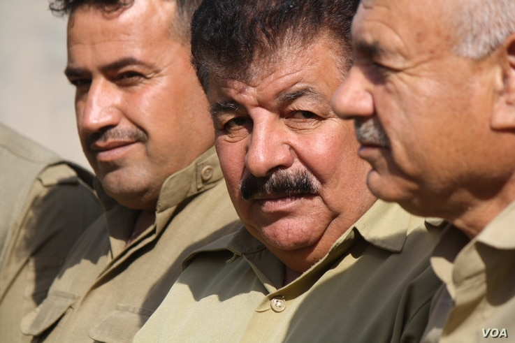 Mam Wahab Suri, a Peshmerga deputy commander in Tur Khurmatu says Kurdish independence is their birthright, and he is willing to fight for it if necessary on Oct. 14, 2017 in Turk Khurmatu, Iraq.