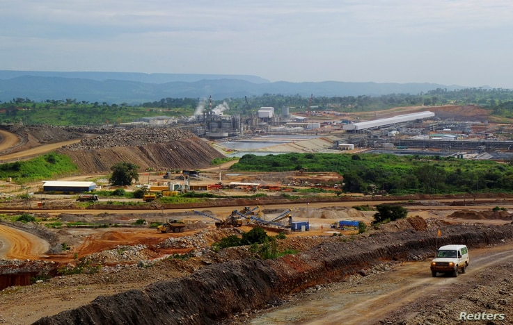 FILE - A view of processing facilities at Tenke Fungurume, a copper and cobalt mine 110 kilometers northwest of Lubumbashi in Congo's copper-producing south.