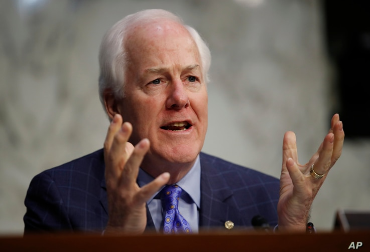 Senate Majority Whip John Cornyn, R-Texas, speaks during a Senate Judiciary Committee hearing on Capitol Hill in Washington, Dec. 6, 2017.