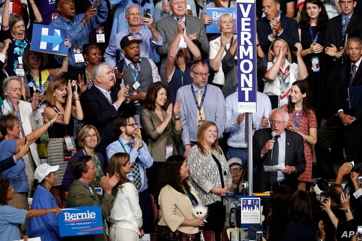 Sen. Bernie Sanders, I-VT., asks that Hillary Clinton become the unanimous choice for President of the United States.