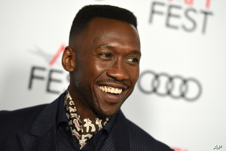 """Mahershala Ali, a cast member in """"Green Book,"""" attends the premiere of the film at the 2018 AFI Fest in Los Angeles, Nov. 9, 2018."""