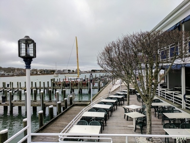Tyler Hayes, vice president of Cape Cod Restaurants, says his seasonal businesses — including Flying Bride Restaurant, shown here in April — would suffer without H-2B workers. After 20 years in the business, he says the children of foreign worker...