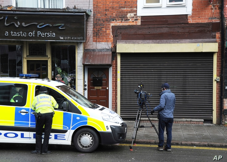 The property which was searched by police following yesterday's London attack, in Birmingham, England, March 23, 2017.