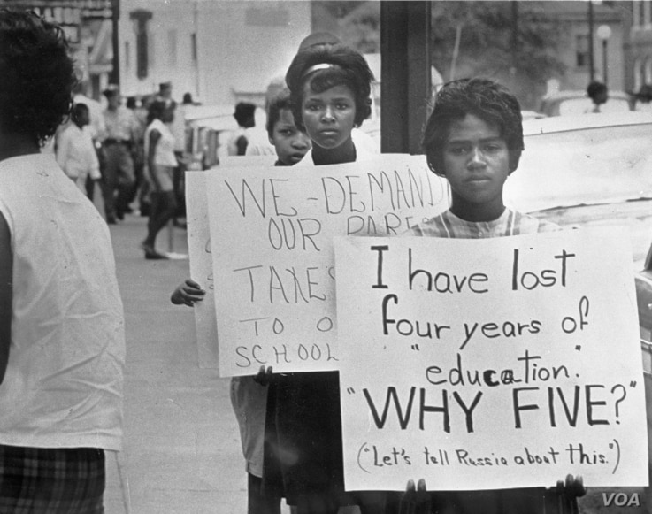 Civil rights protesters in Farmville, July, 1963.