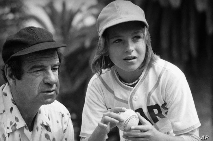 Actor Walter Matthau, left, was famous for playing grumpy old men in several films, including his turn as baseball coach Morris Buttermaker in the 1976 film The Bad News Bears.