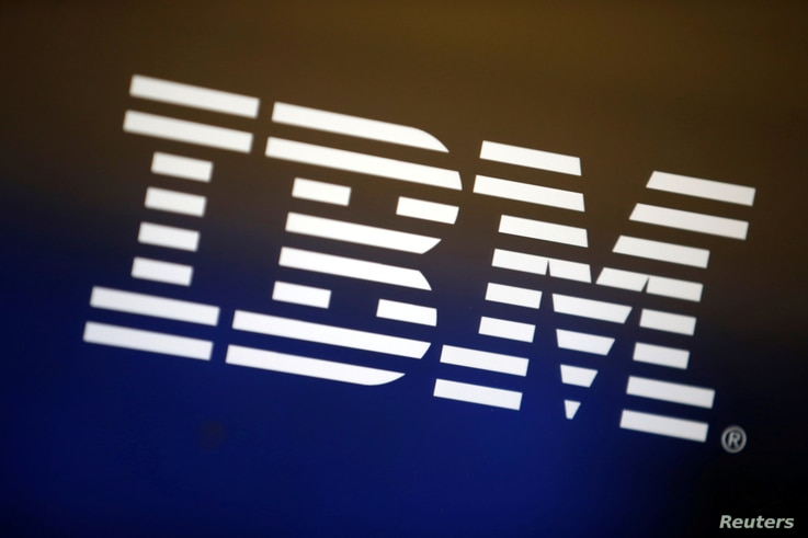 FILE - The logo of IBM is seen on a computer screen in Los Angeles, April 22, 2016.