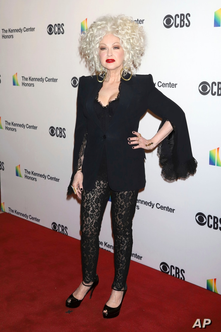Cyndi Lauper attends the 41st Annual Kennedy Center Honors at The Kennedy Center in Washington, Dec. 2, 2018.