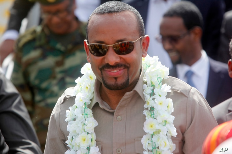 The new Prime Minister of Ethiopia, Abiy Ahmed