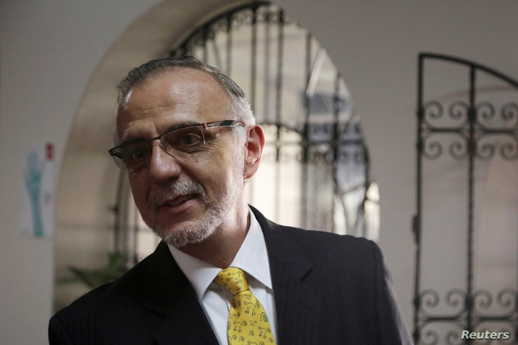 Ivan Velasquez, head of the International Commission against Impunity, speaks during an interview with Reuters in Guatemala City, Guatemala, Sept. 14, 2017.