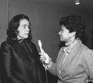 Belva Davis interviews Coretta Scott King.