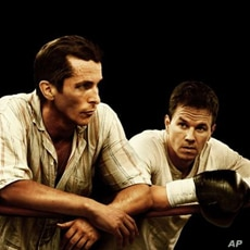 Christian Bale and Mark Wahlberg in 'The Fighter', one of this weekend's Oscar contenders for Best Picture.