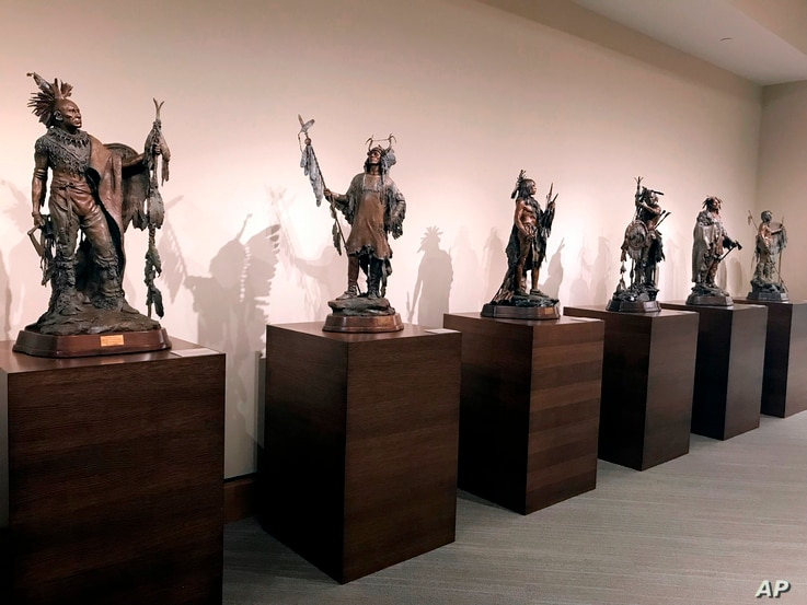 One of the installations inside the James Museum of Western & Wildlife Art in St. Petersburg, Fla.