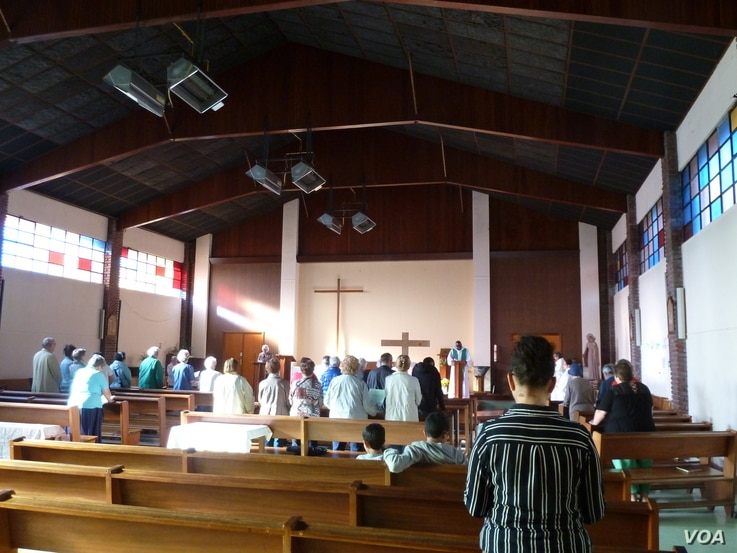 St. Therese Church in St. Etienne du Rouvray, one of the late Father Hamel's parishes. Like many parishes in France, its population is aging and shrinking. The parish donated some of its land so St. Etienne's growing Muslim community could build a mo...