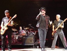 U2 in concert at Madison Square Garden