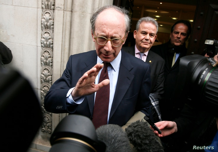 Malcolm Rifkind leaves the Intelligence and Security Committee in London, Feb. 24, 2015.