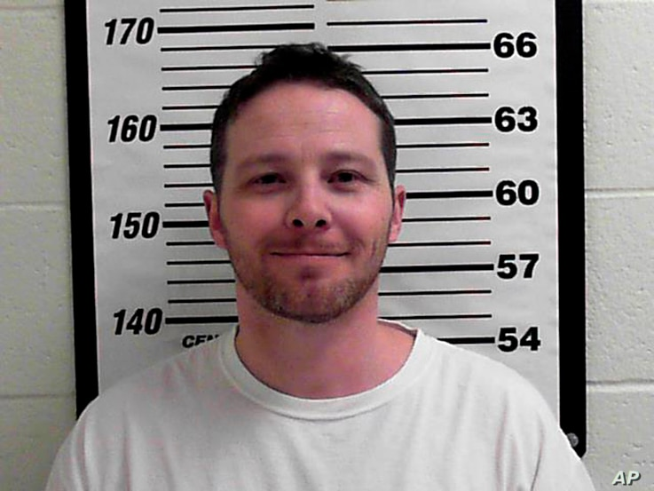 This undated photo released by Davis County Sheriff's Office shows William Clyde Allen III. Allen, 39, a U.S. Navy veteran in Utah was arrested, Oct. 3, 2018, in connection with suspicious envelopes that were sent to President Donald Trump and top mi...