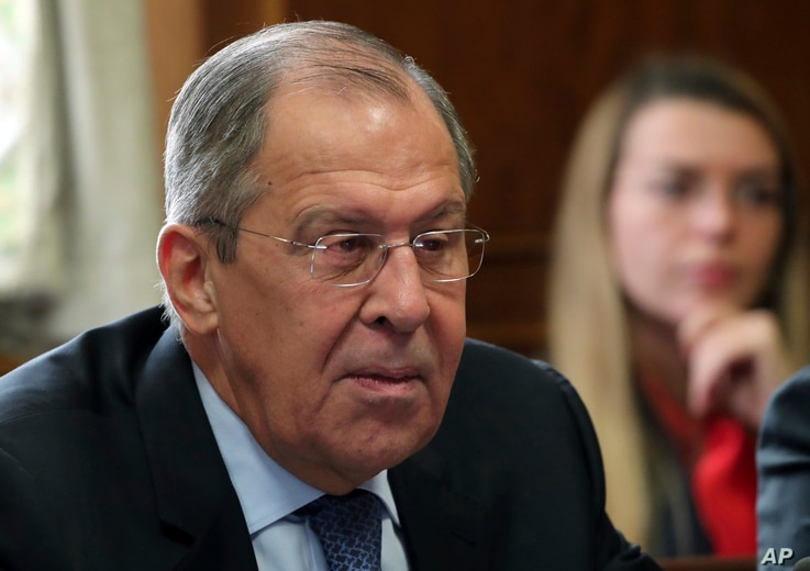 Russian foreign minister Sergei Lavrov attends a meeting on forming a constitutional committee in Syria at the European headquarters of the United Nations in Geneva, Switzerland, Dec. 18, 2018.