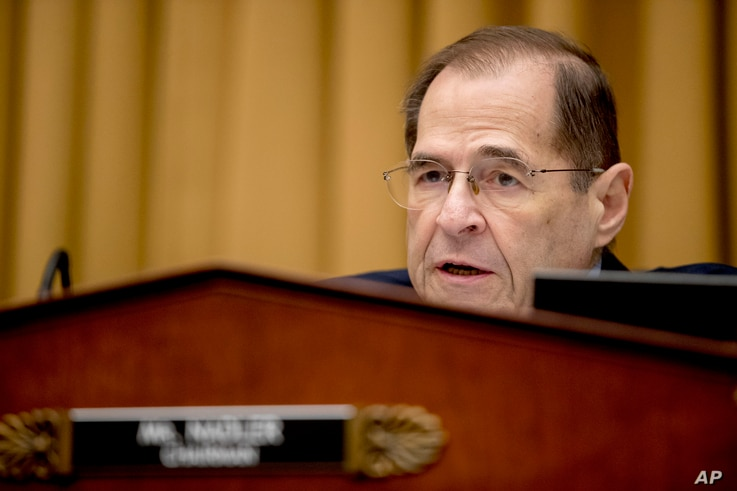 Judiciary Committee Chairman Jerrold Nadler (Democrat-New York) is seen during a House Judiciary Committee hearing on Capitol Hill, in Washington, Feb. 8, 2019.