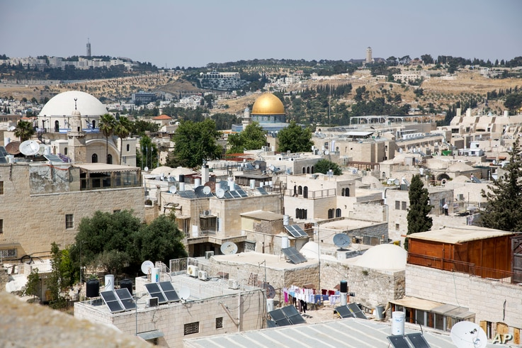This Wednesday, May 24, 2017 photo shows a view of Jerusalem's Old City.