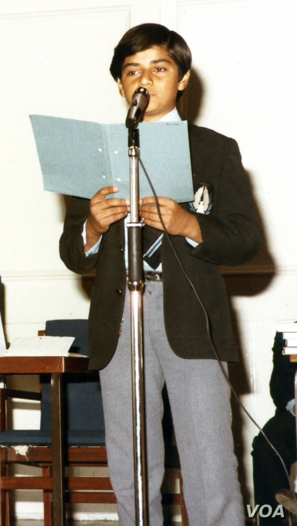 Sadiq Khan, now London's mayor, as a teenager at South London's Ernest Bevin College. (Photo courtesy of Ernest Bevin College)