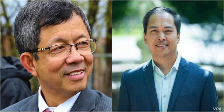 Vesna Noun, (left) and Sokhary Chau, are two of four Cambodian-American candidates from minority group in Lowell who run to get elected into Lowell's city council. (Courtesy Photo)