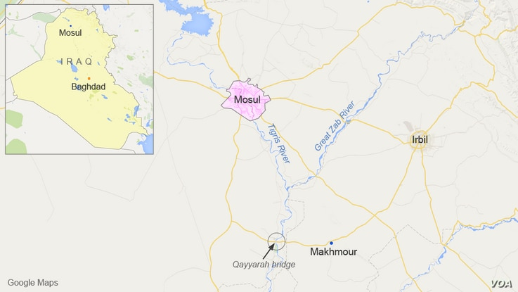 Mosul and nearby Makhmour, Iraq
