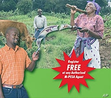 M-Pesa advertisements have convinced Kenyans they can trust a mobile phone operator for money transfers, February 2011