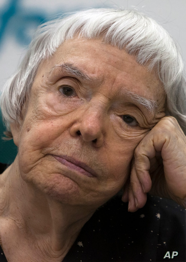 FILE - Lyudmila Alekeyeva, Russia's veteran human rights activist and head of the Moscow Helsinki Group, attends a news conference in Moscow, July 5, 2012.