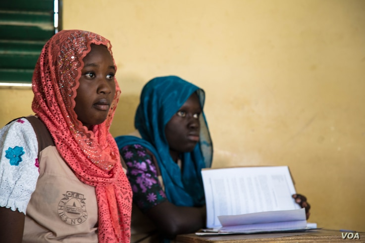 14-year-old Anta Ndam Diof says the classes have boosted her confidence. (Photo: Chika Oduah for VOA)