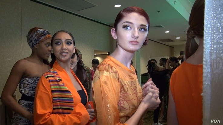 """DC Fashion Week uses models from many different backgrounds as part of its effort to be the """"center of international fashion."""" (Photo: J. Soh / VOA)"""