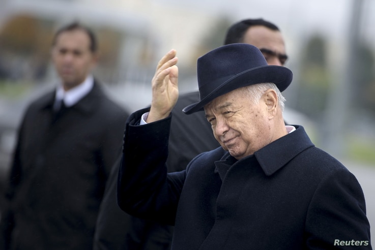 FILE - Islam Karimov, who died in 2016, ruled Uzbekistan for 27 years.