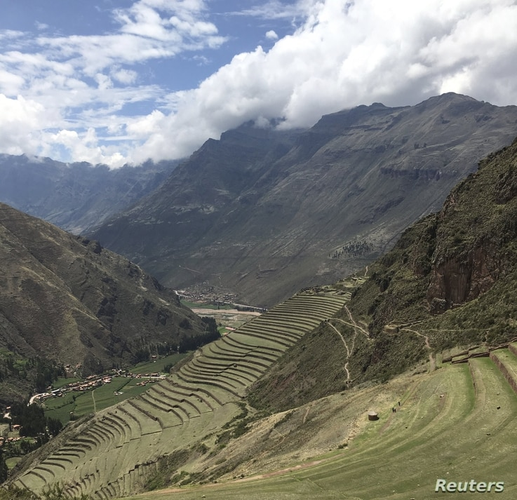 Later Andean farmers adapted their mountainous environment for agriculture through terraced farming shown in this undated handout photo released April 6, 2016 by Amy Goldberg.