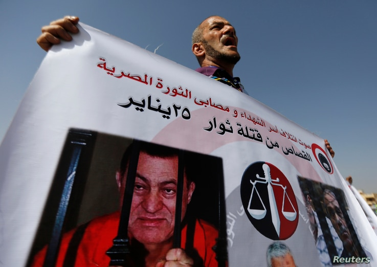 A man whose relatives were killed during the 2011 Egyptian revolution.