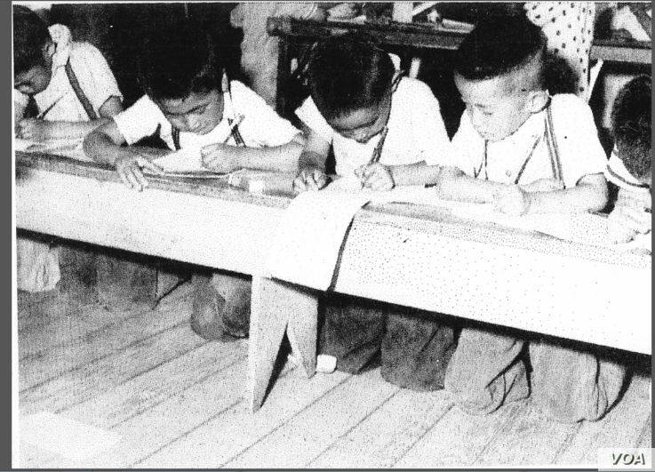 Mas Yamashita said children were allowed to attend school in the Topaz internment site, in Central Utah, during the WWII. Classes were often taught by a few of the children's mothers. (Courtesy: Mas Yamashita)