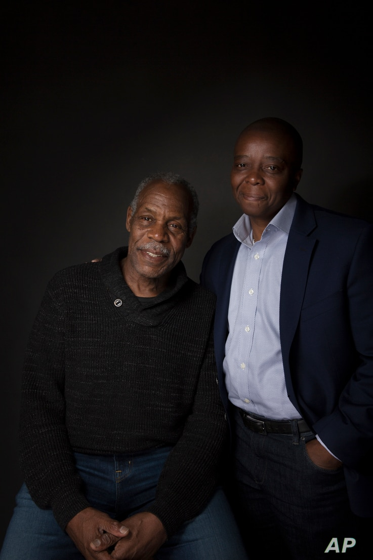 """Filmmaker Yance Ford, right, and Danny Glover pose for a portrait to promote the film """"Strong Island"""" at the Music Lodge during the Sundance Film Festival, Jan. 22, 2017, in Park City, Utah."""