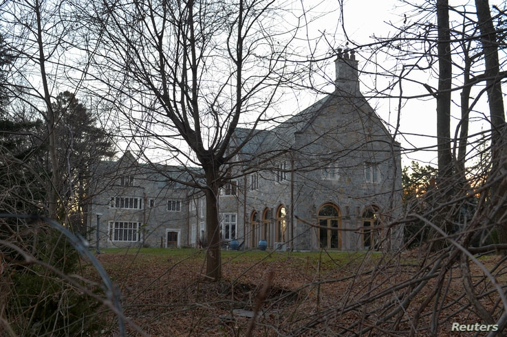Killenworth, an estate built in 1913 for George du Pont Pratt and purchased by the former Soviet Union in the 1950s, is seen in Glen Cove, Long Island, New York, Dec. 30, 2016.