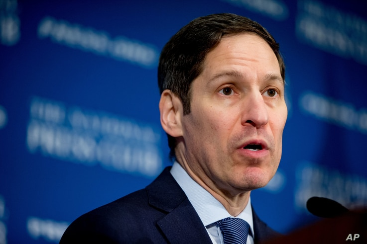 Centers for Disease Control and Prevention Director Dr. Thomas Frieden speaks at the National Press Club in Washington on the latest research and forecasts on the Zika virus, May 26, 2016.