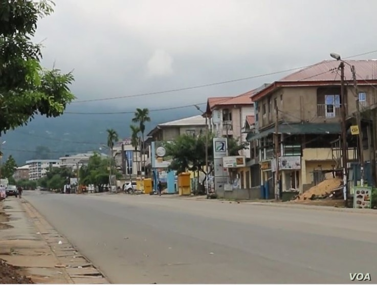 Deserted English speaking town of Buea, Feb. 6, 2019. (E. Kindzeka/VOA)