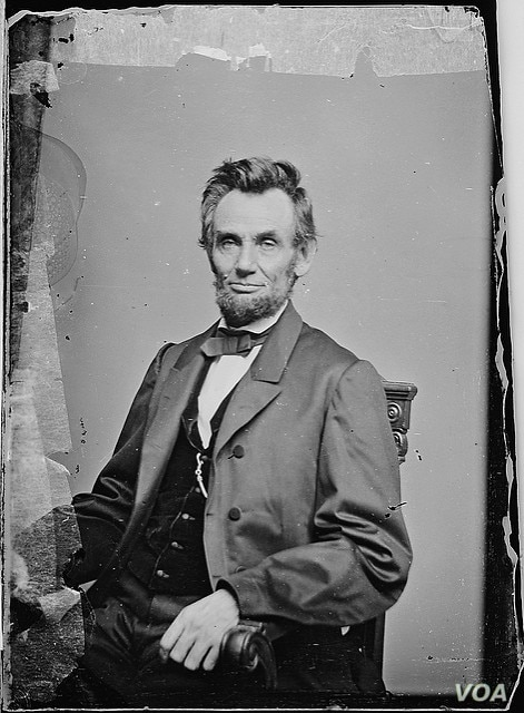 A portrait of President Abraham Lincoln (image courtesy of the National Archives)