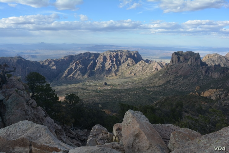 As he climbed to Emory Peak in the Chisos Mountains, national parks traveler Mikah Meyer had a bird's eye view of the Chisos Mountains Lodge and grounds where he had stayed the night before.