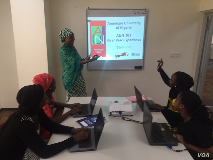 At American University of Nigeria, a college prep initiative supports some of the former Chibok students who escaped Boko Haram within months of their capture. (Courtesy American University of Nigeria)