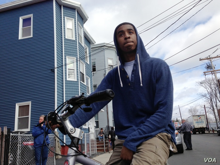 Derek Winbush, 18 years old said that he went to gym class with the suspect, Dzhokhar Tsarnaev, and lives in the area.