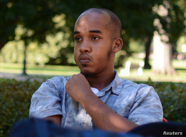 Abdul Razak Artan, a third-year student in logistics management, sits on the Oval in an August 2016 photo provided by The Lantern, student newspaper of Ohio State University in Columbus, Ohio, Nov. 28, 2016.