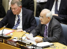 Riyad Mansour, Permanent Observer of the Mission of Palestine to the United Nations, addresses the Security Council meeting on the situation of the Middle East including the Palestinian question, July 26, 2011