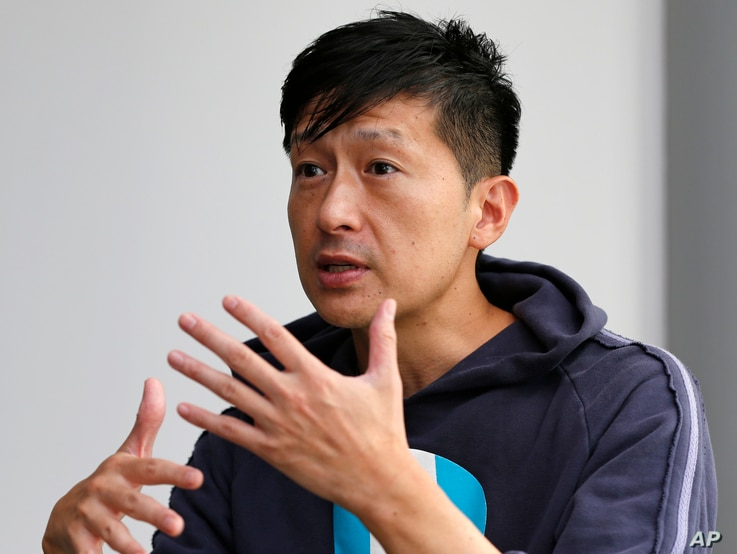 """Myoung-joo Boo, 45, an actor, a third-generation Korean in Japan and a graduate of the North Korean school, speaks during an interview in Tokyo, Oct. 5, 2017. """"I am born in Japan, but I see myself as Korean,"""" he said."""