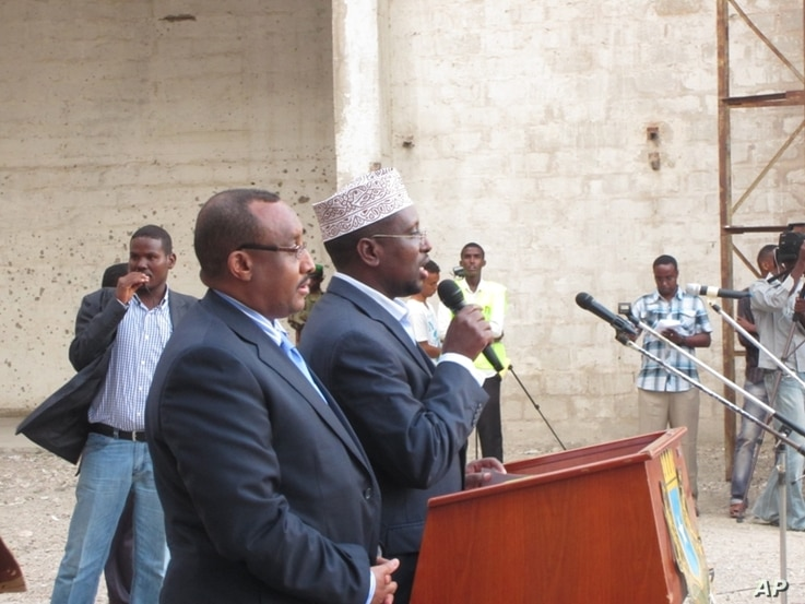 Somali President Sharif Sheikh Ahmed credited the reopening on security gains against al-Shabab militants. (Photo courtesy Somali Government)
